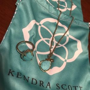 Kendra Scott turquoise ring and necklace